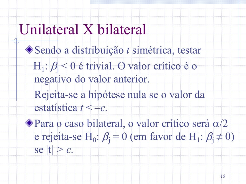 Unilateral X bilateral