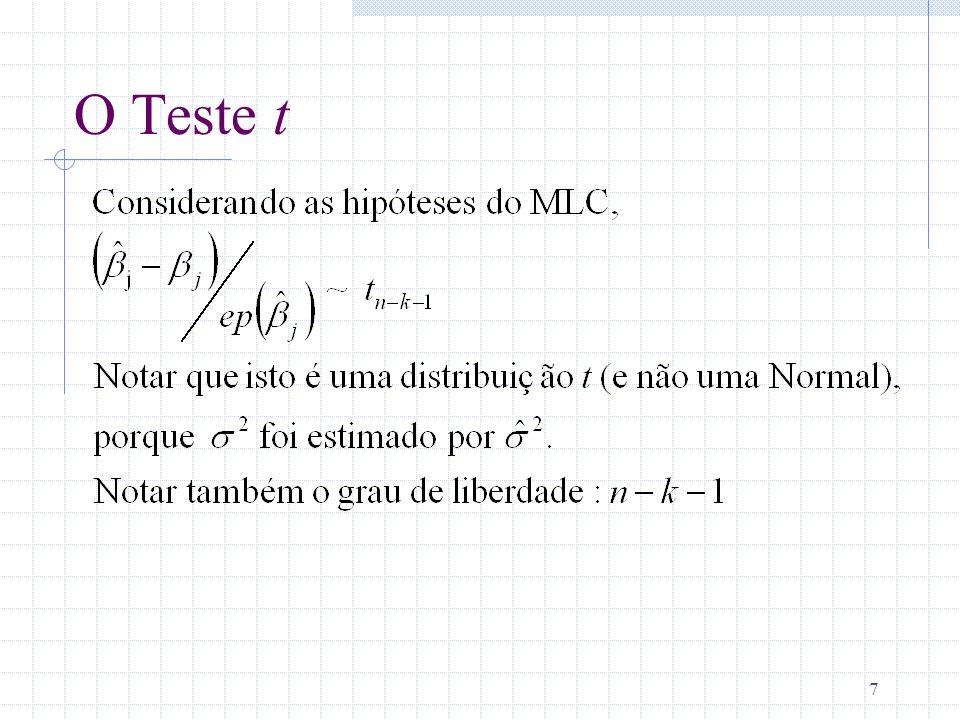 O Teste t