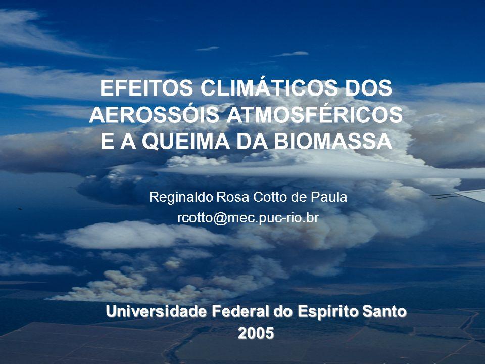 EFEITOS CLIMÁTICOS DOS AEROSSÓIS ATMOSFÉRICOS E A QUEIMA DA BIOMASSA