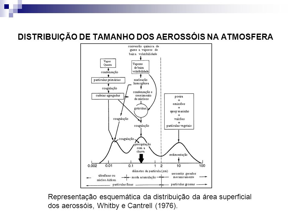 DISTRIBUIÇÃO DE TAMANHO DOS AEROSSÓIS NA ATMOSFERA