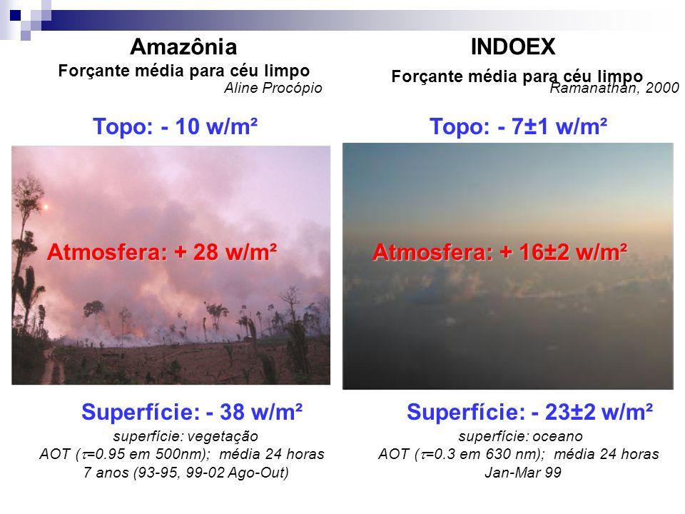 Amazônia Forçante média para céu limpo
