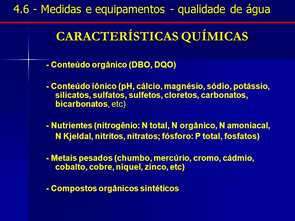 4.6 - Medidas e equipamentos - qualidade de água