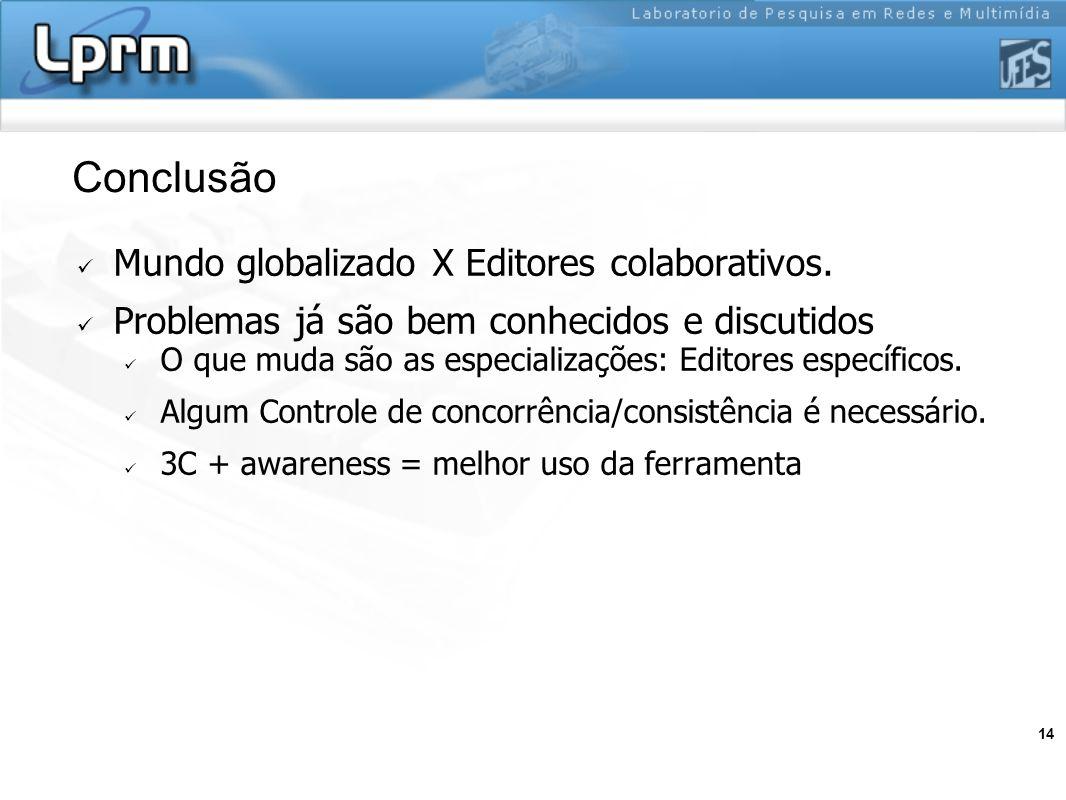 Conclusão Mundo globalizado X Editores colaborativos.