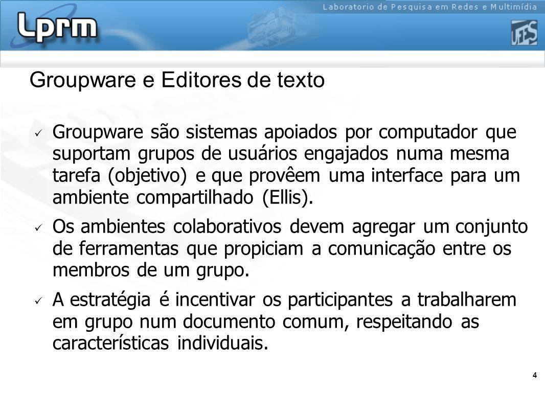 Groupware e Editores de texto