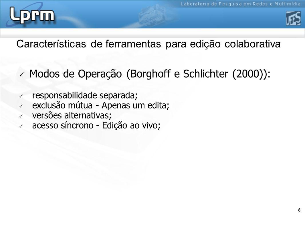 Características de ferramentas para edição colaborativa