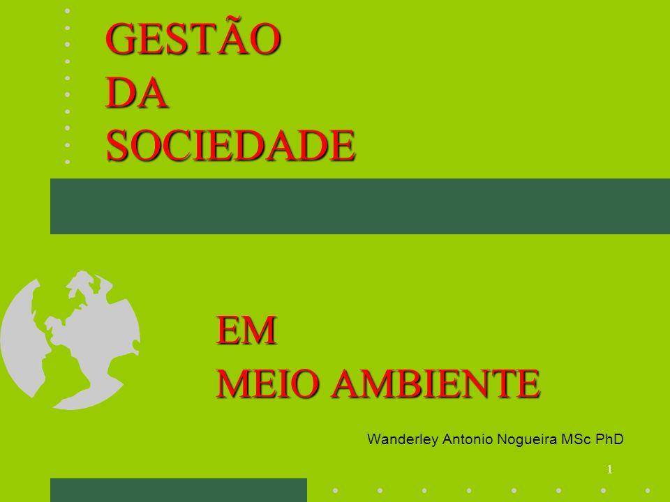 EM MEIO AMBIENTE Wanderley Antonio Nogueira MSc PhD