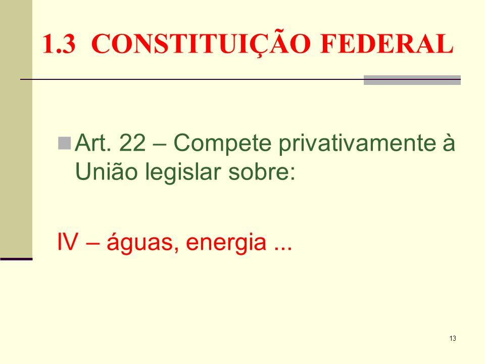 1.3 CONSTITUIÇÃO FEDERAL Art.