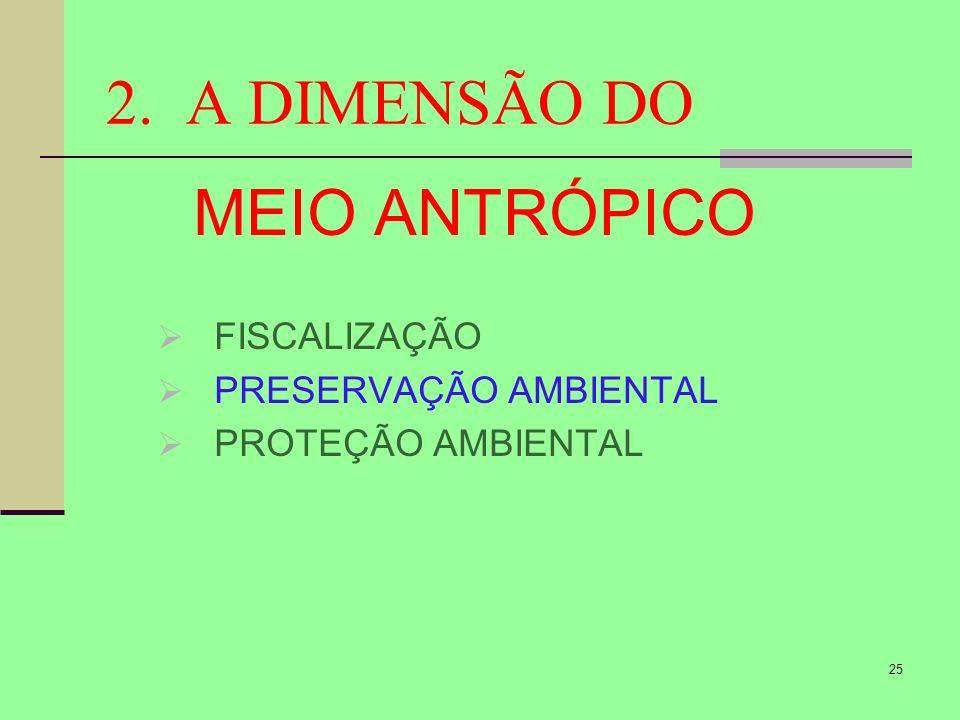 2. A DIMENSÃO DO MEIO ANTRÓPICO FISCALIZAÇÃO PRESERVAÇÃO AMBIENTAL
