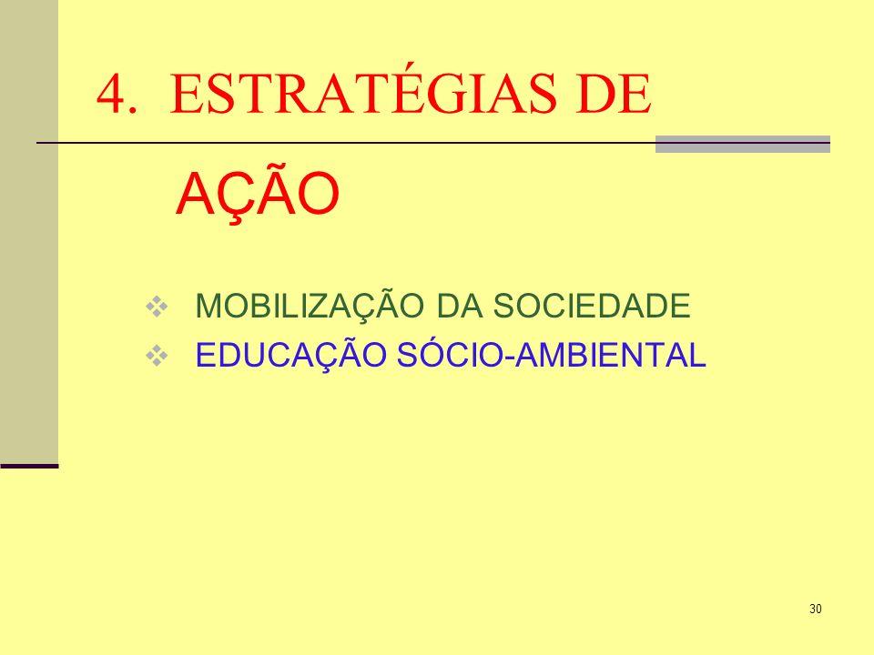 4. ESTRATÉGIAS DE AÇÃO MOBILIZAÇÃO DA SOCIEDADE