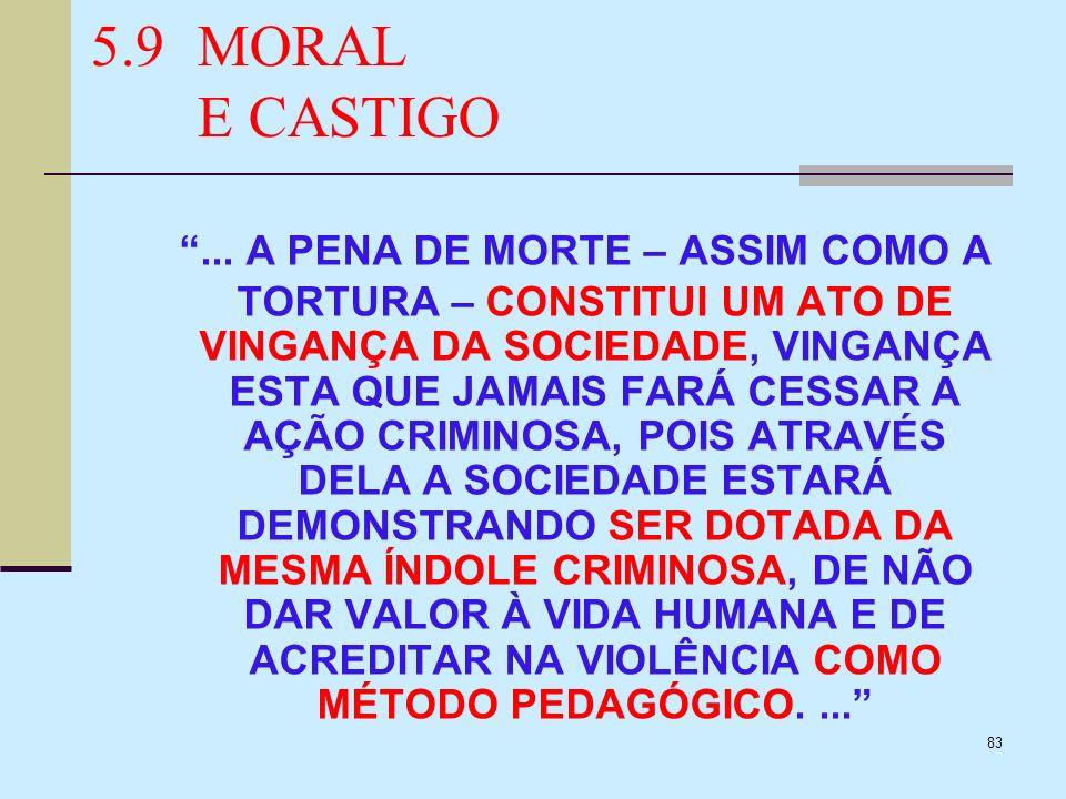 5.9 MORAL E CASTIGO