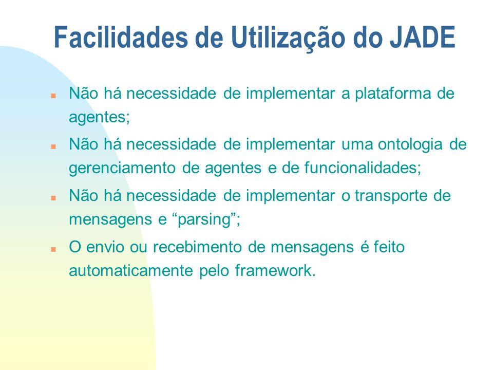 Facilidades de Utilização do JADE