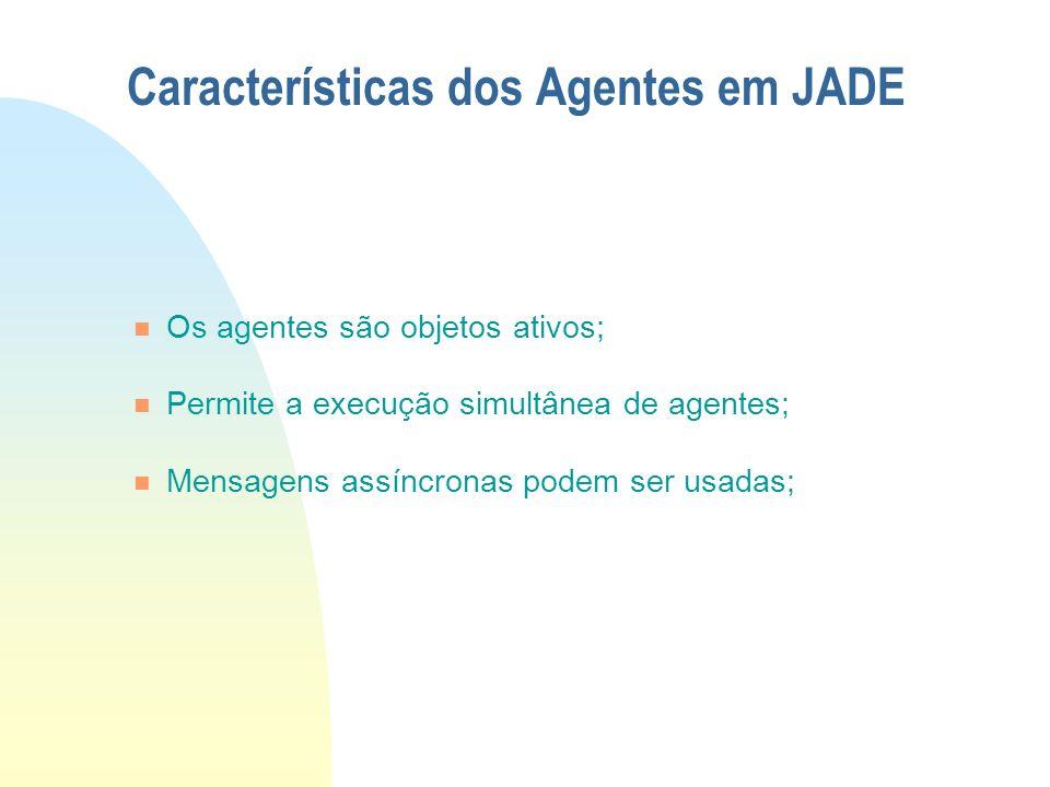 Características dos Agentes em JADE