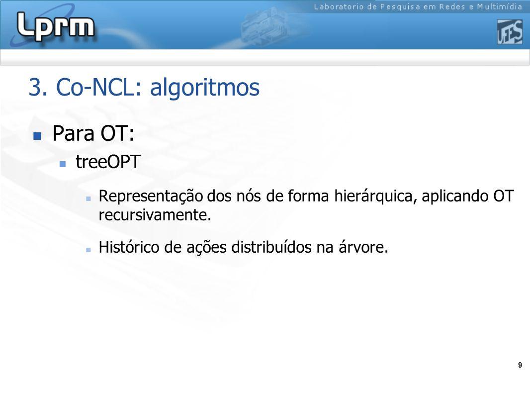 3. Co-NCL: algoritmos Para OT: treeOPT