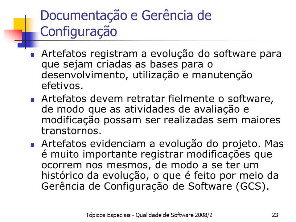 Documentação e Gerência de Configuração