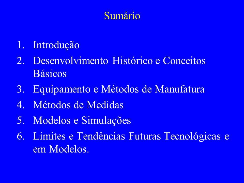 Sumário Introdução. Desenvolvimento Histórico e Conceitos Básicos. Equipamento e Métodos de Manufatura.