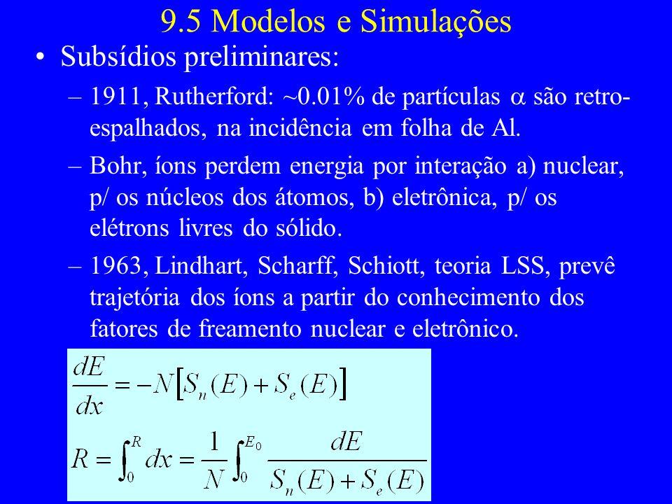 9.5 Modelos e Simulações Subsídios preliminares: