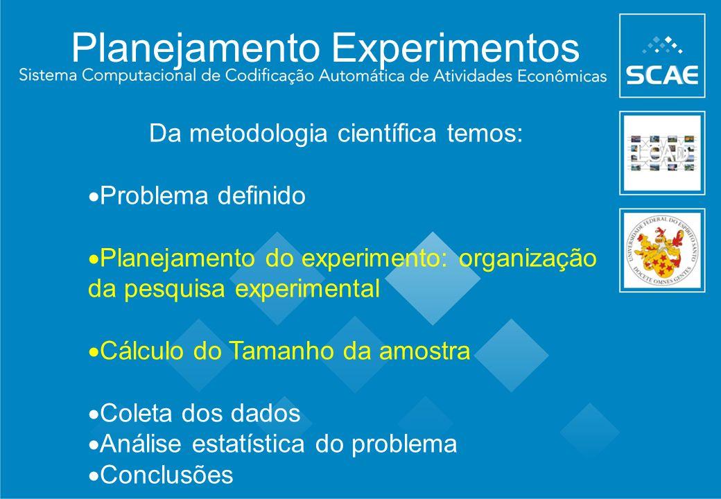 Planejamento Experimentos