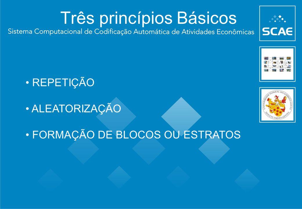 Três princípios Básicos