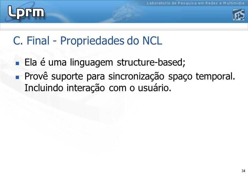 C. Final - Propriedades do NCL