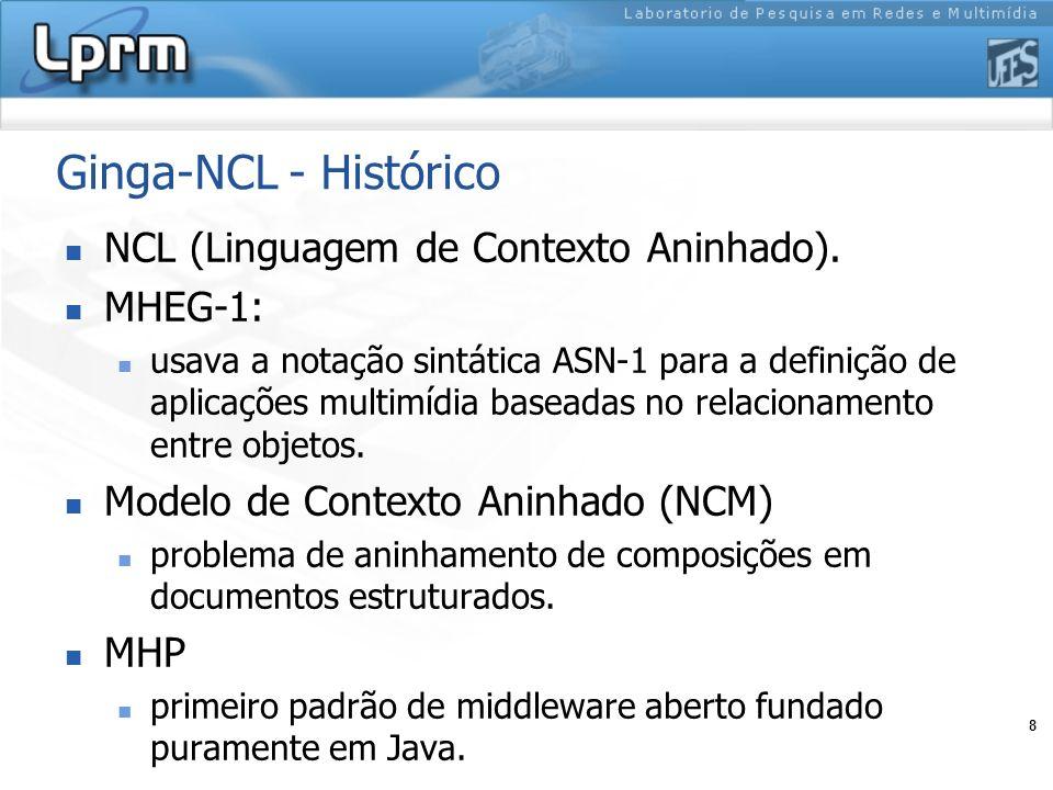 Ginga-NCL - Histórico NCL (Linguagem de Contexto Aninhado). MHEG-1: