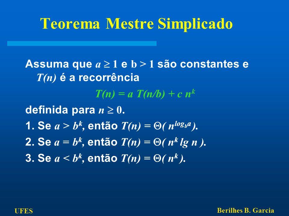 Teorema Mestre Simplicado