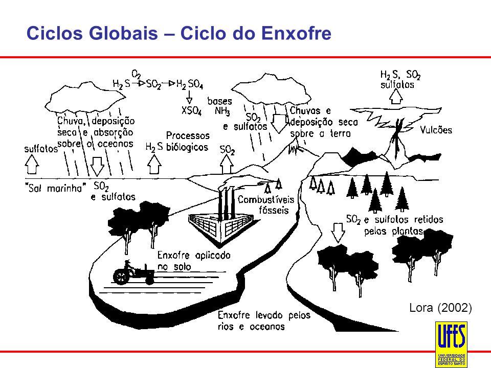 Ciclos Globais – Ciclo do Enxofre
