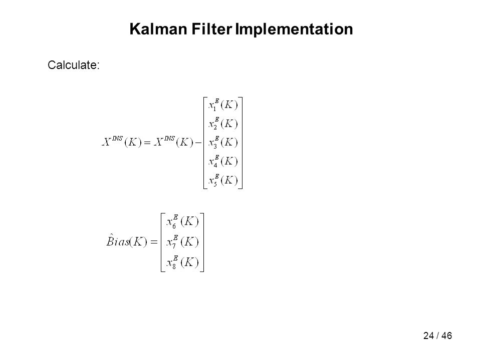 Kalman Filter Implementation