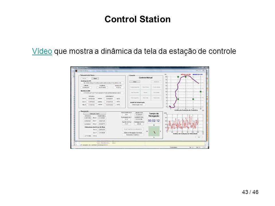Control Station Vídeo que mostra a dinâmica da tela da estação de controle