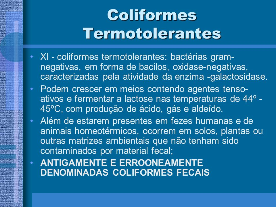 Coliformes Termotolerantes