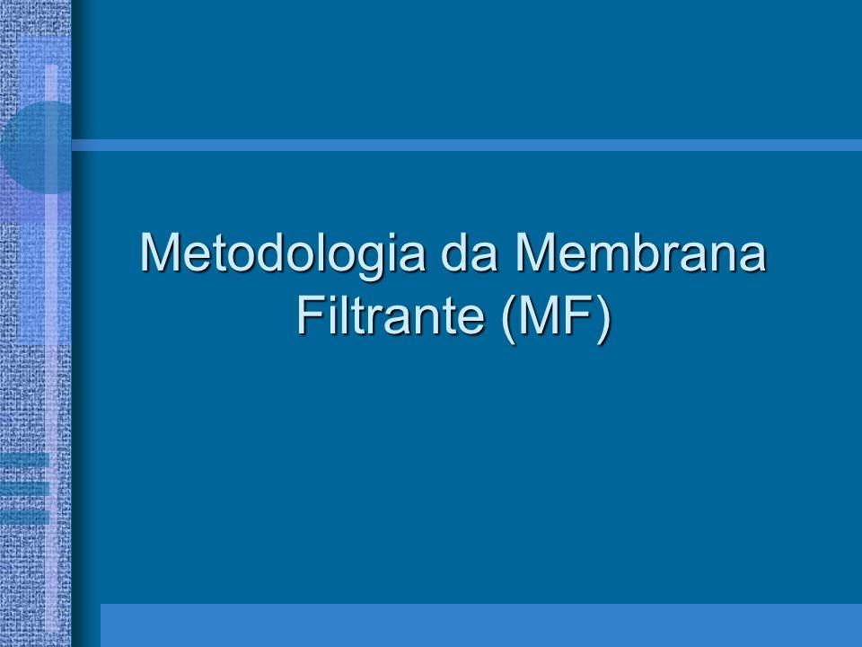 Metodologia da Membrana Filtrante (MF)