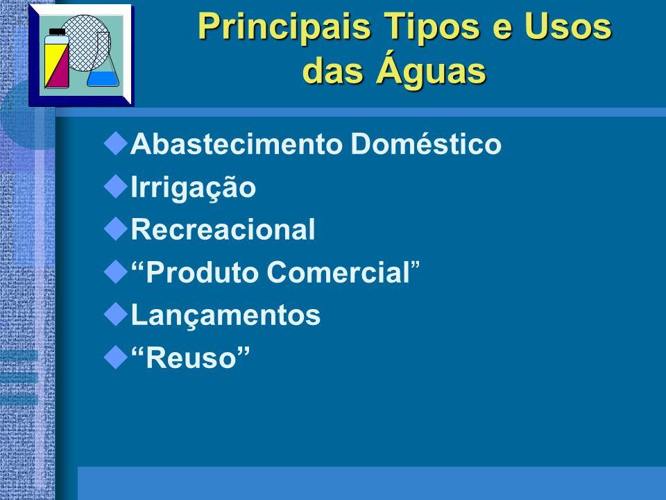 Principais Tipos e Usos das Águas