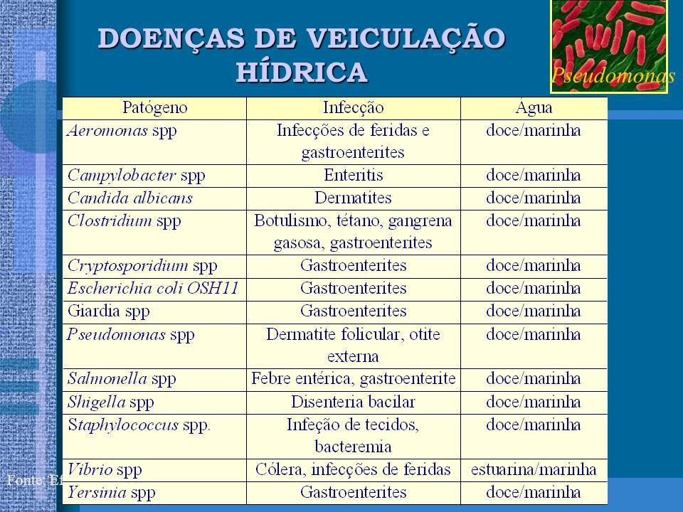 DOENÇAS DE VEICULAÇÃO HÍDRICA