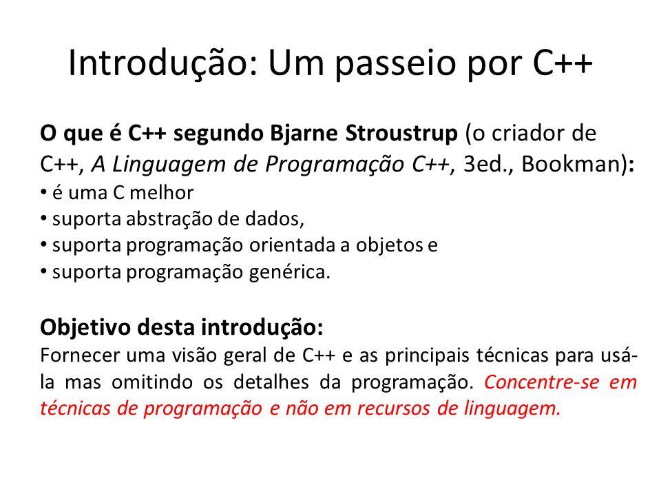 Introdução: Um passeio por C++
