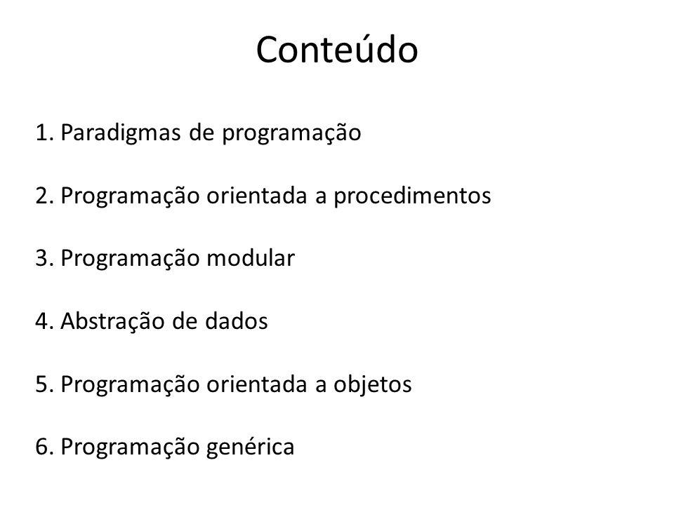 Conteúdo Paradigmas de programação