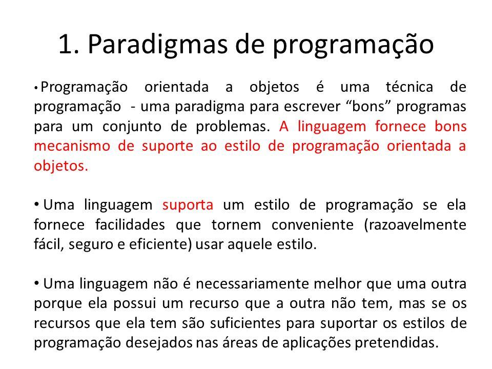 1. Paradigmas de programação