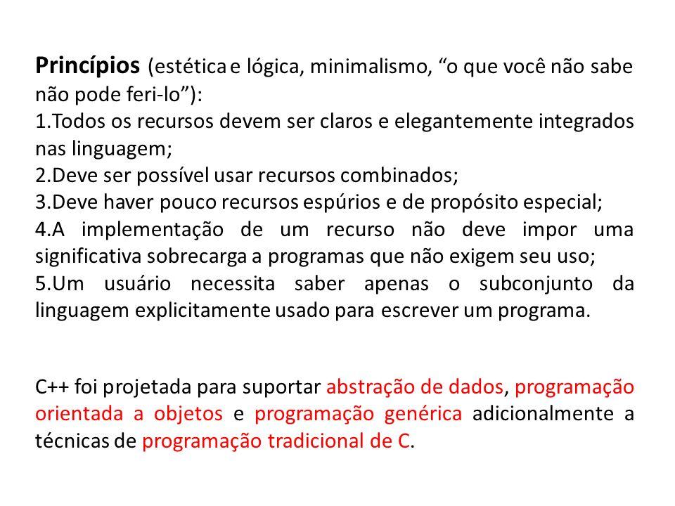 Princípios (estética e lógica, minimalismo, o que você não sabe não pode feri-lo ):