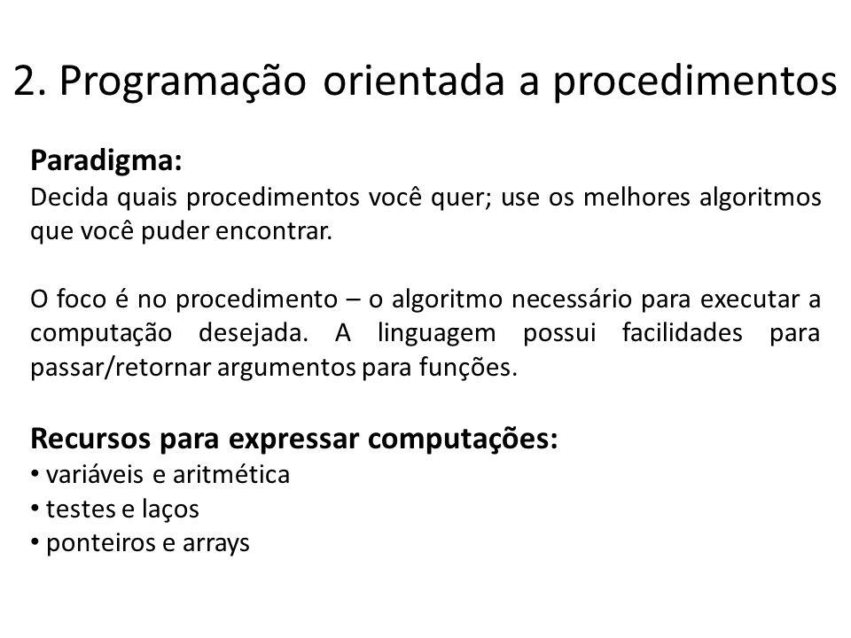 2. Programação orientada a procedimentos