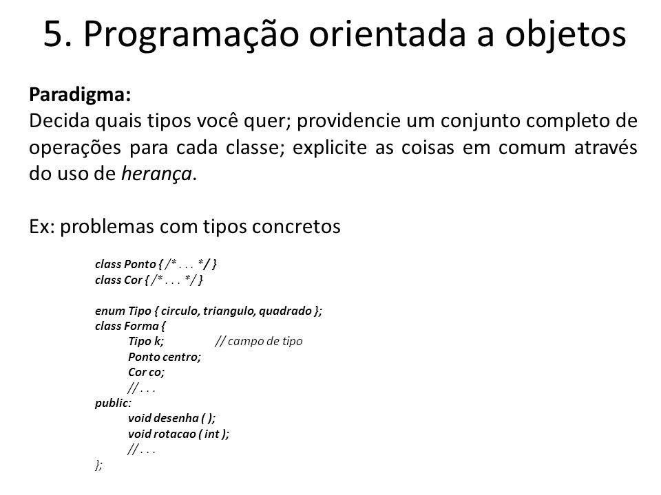 5. Programação orientada a objetos