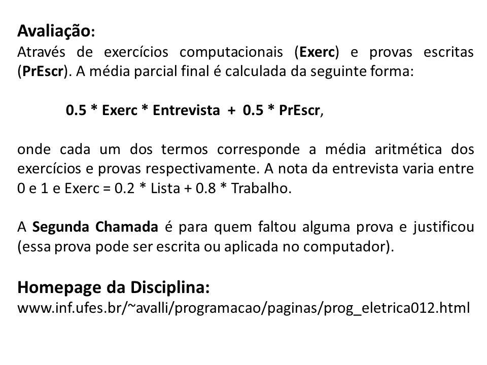 Homepage da Disciplina: