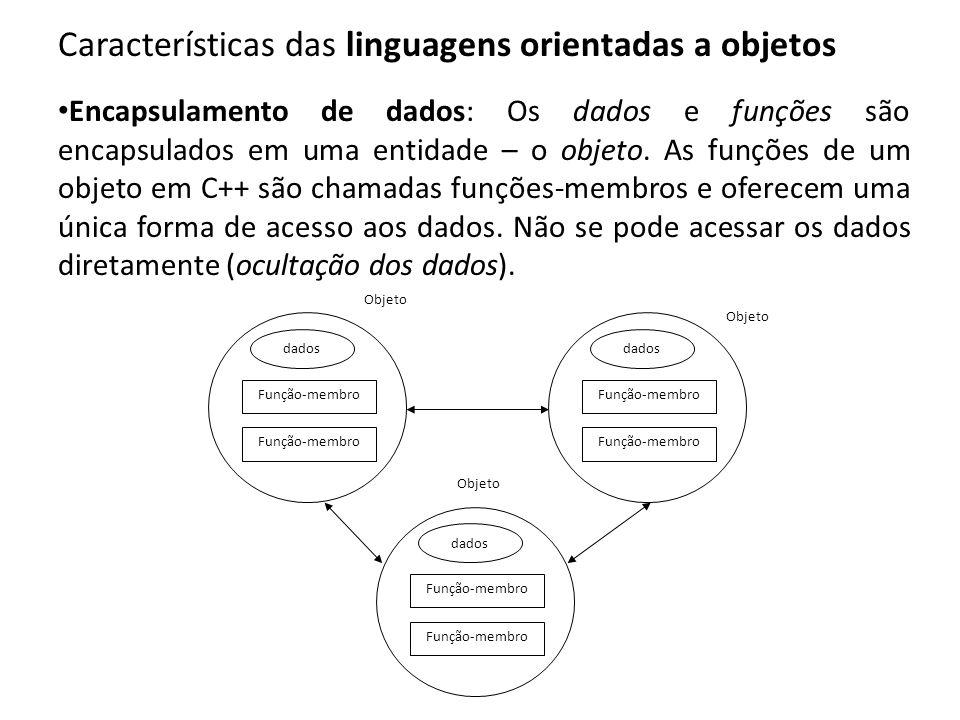 Características das linguagens orientadas a objetos
