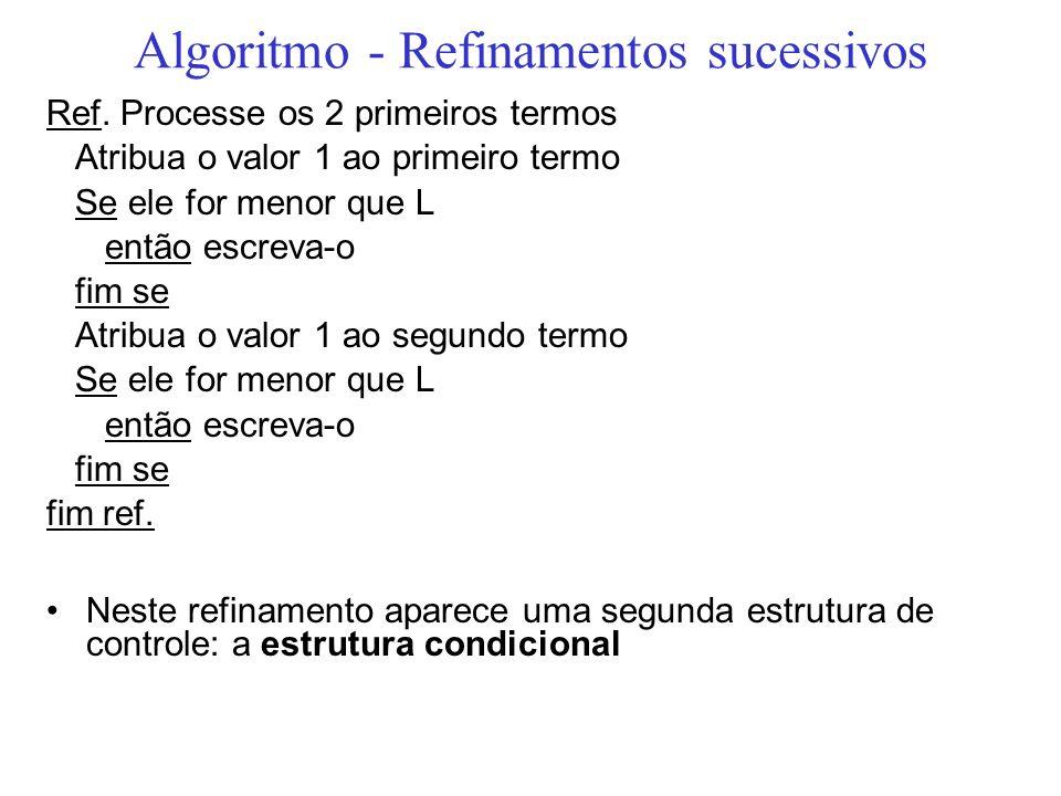 Algoritmo - Refinamentos sucessivos
