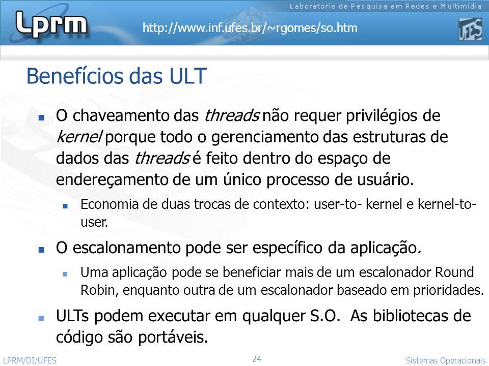 Benefícios das ULT