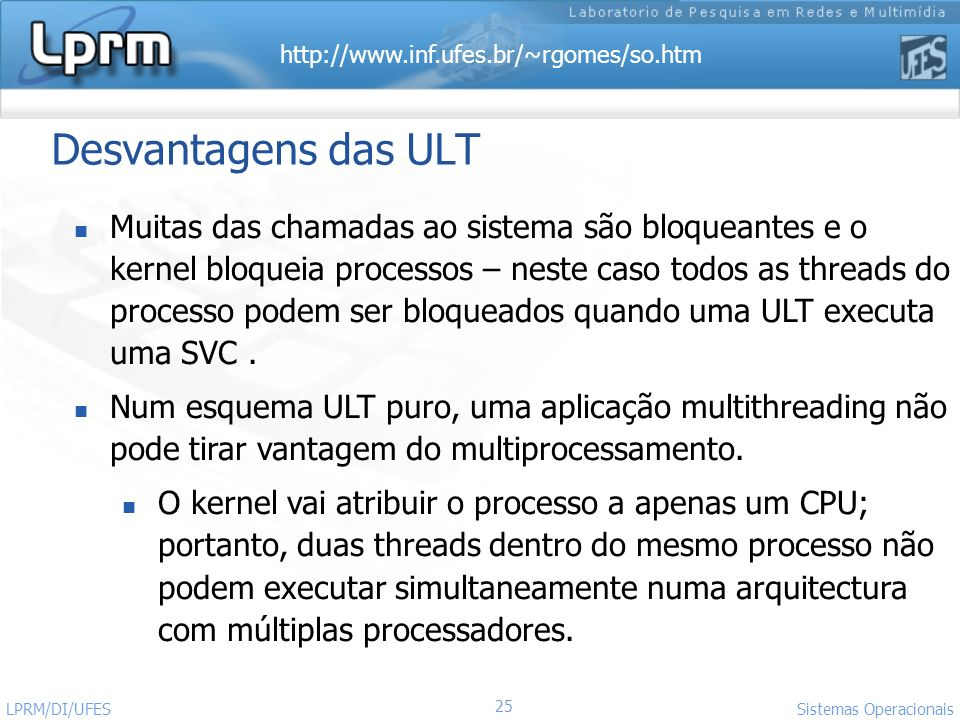 Desvantagens das ULT