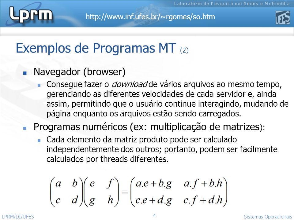 Exemplos de Programas MT (2)