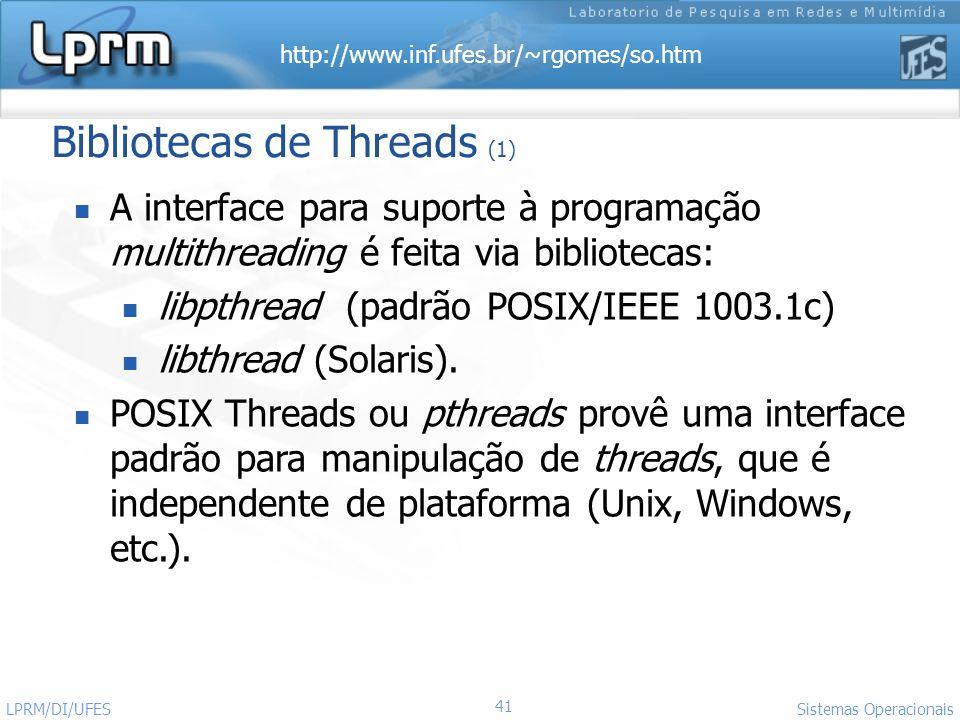 Bibliotecas de Threads (1)