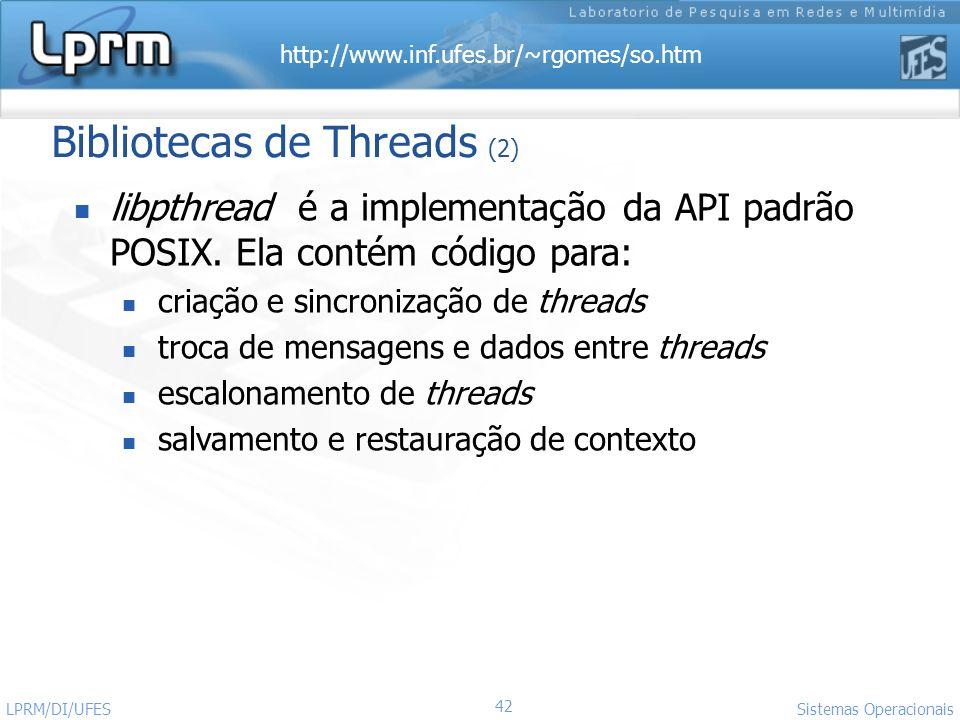 Bibliotecas de Threads (2)