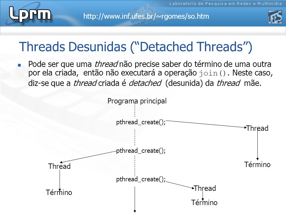 Threads Desunidas ( Detached Threads )