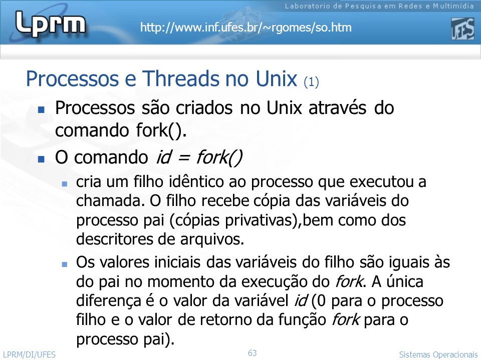 Processos e Threads no Unix (1)