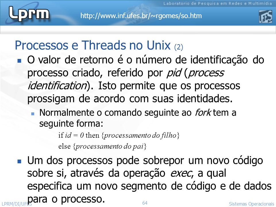 Processos e Threads no Unix (2)