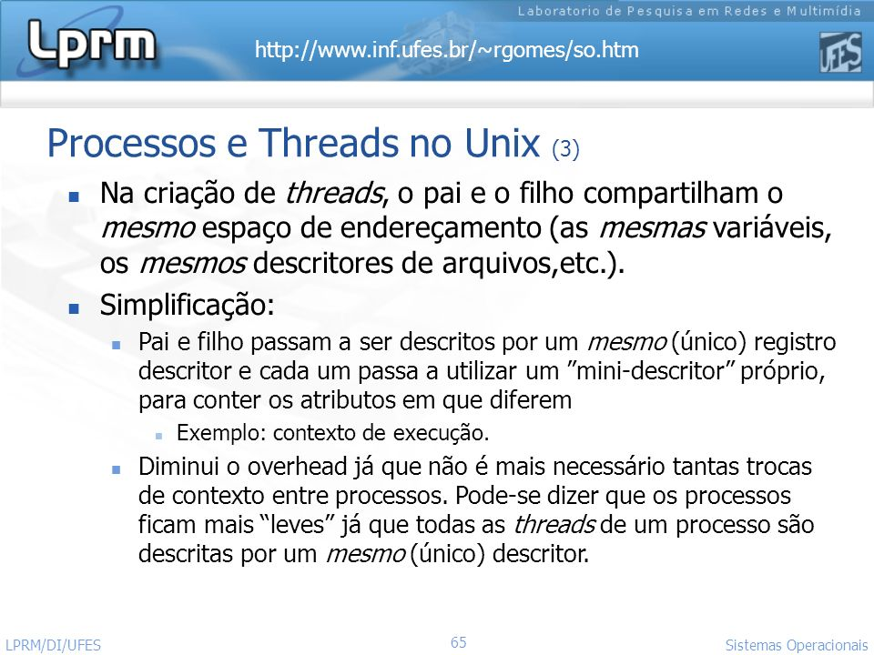 Processos e Threads no Unix (3)